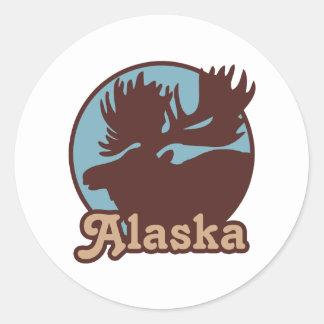 Alaska Classic Round Sticker