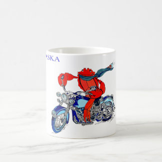 Alaska Style King Crab Motorcycle Coffee Mug