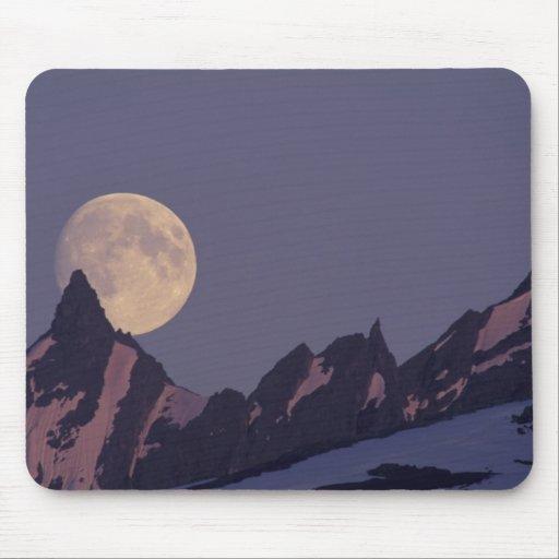 Alaska, subidas de la Luna Llena de las montañas d Alfombrilla De Ratones