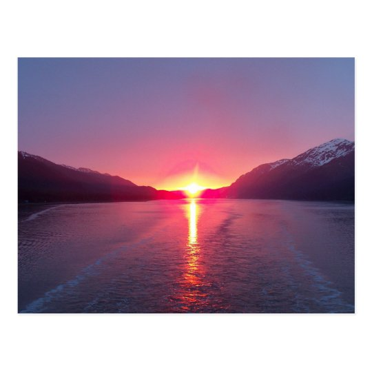 Alaska Sunset Postcard