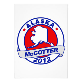 Alaska Thad McCotter Personalized Invites