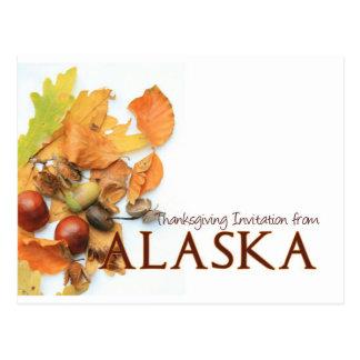Alaska thanksgiving invitation postcard