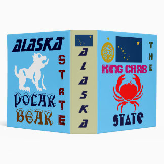 ALASKA: THE KING CRAB/POLAR BEAR STaTE 3 Ring Binder