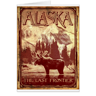 Alaska - the last frontier greeting card