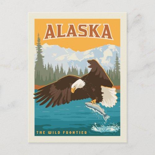 Alaska  The Wild Frontier _ Eagle Postcard