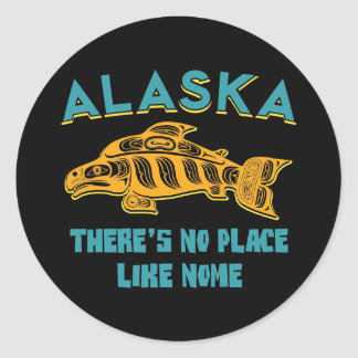 Alaska: There's no place like Nome Classic Round Sticker