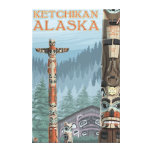 Alaska Totem Poles - Ketchikan, Alaska Canvas Print