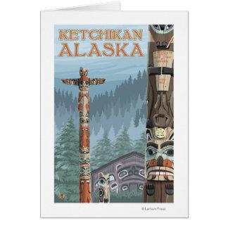 Alaska Totem Poles - Ketchikan, Alaska Card