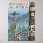 Alaska Totem Poles - Ketchikan, Alaska Posters