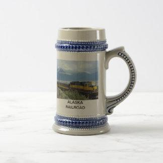 Alaska train along Seward highway stein Coffee Mug