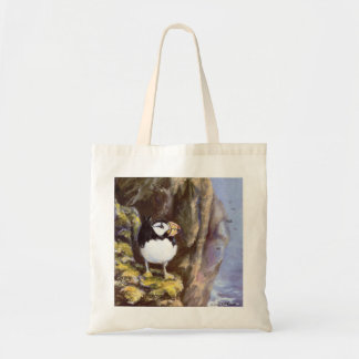 Alaska Tufted Puffin Tote Bag