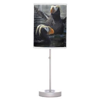 Alaska Tufted puffins Desk Lamp