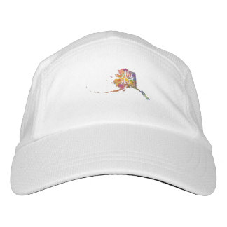 Alaska U.S. State in watercolor text cut out Headsweats Hat