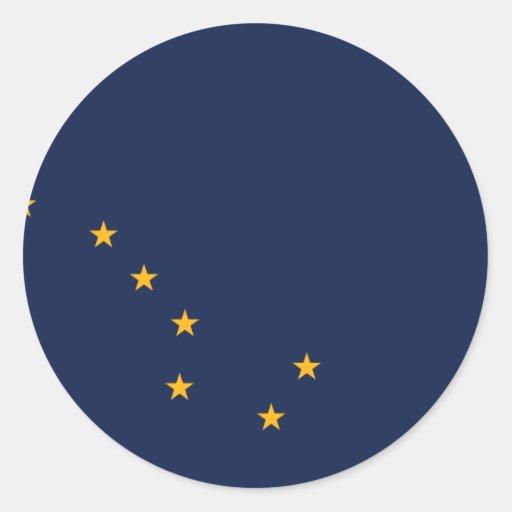 Alaska, United States flag Classic Round Sticker