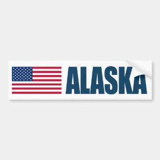 Alaska US Flag Bumper Sticker