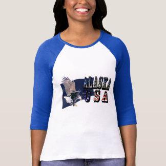 Alaska USA Bald Eagle Flag T-Shirt