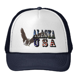 Alaska USA Eagle Baseball Cap Trucker Hat