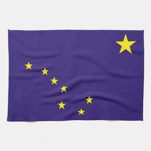 alaska usa state flag towel