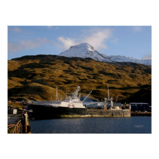 Alaska Victory, Fishing Trawler in Dutch Harbor, A Poster