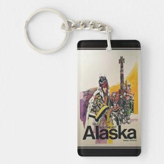 Alaska / Vintage Travel Poster Keychain