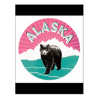 Alaska Vintage Travel Poster Postcard
