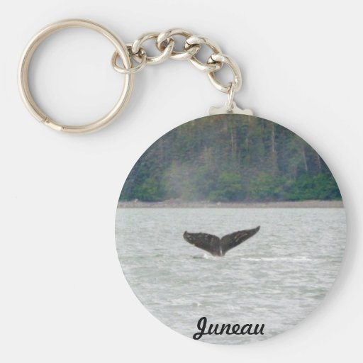 Alaska Whale Tail Basic Round Button Keychain