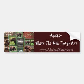 Alaska~Where The Wild Things Are Bumper Sticker