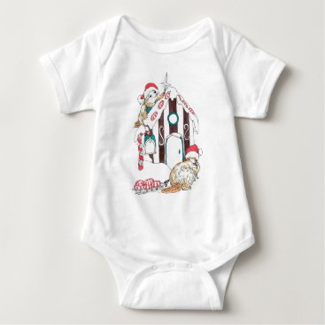 Christmas Themed Alaska Whimsical Christmas Wildlife Baby Bodysuit