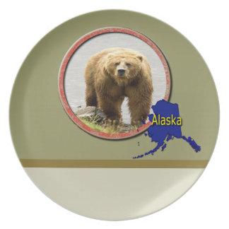 Alaska Wildlife Dinner Plate