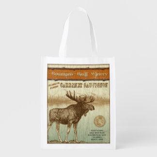 Alaska Wine Label, Cabernet, grocery bag