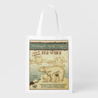 Alaska Wine Label, Ice Wine, grocery bag