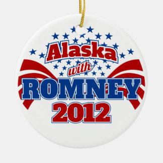 Alaska with Romney 2012 Ceramic Ornament