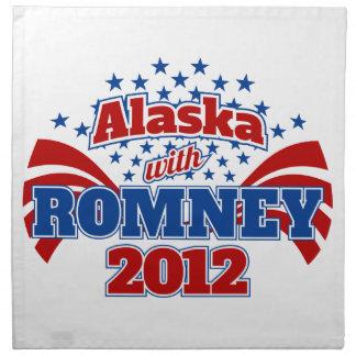 Alaska with Romney 2012 Cloth Napkins