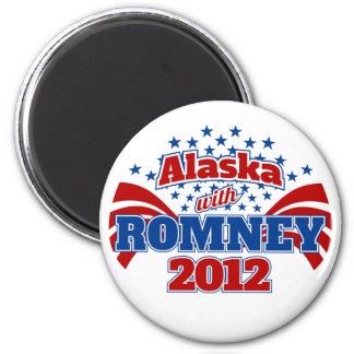 Alaska with Romney 2012 Magnet