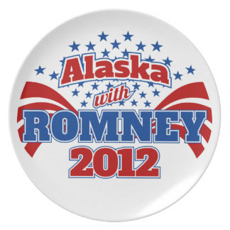 Alaska with Romney 2012 Party Plate