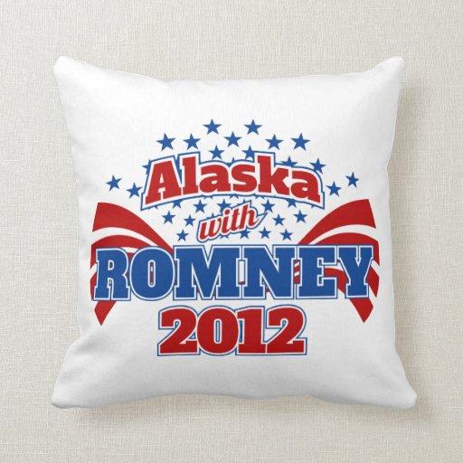 Alaska with Romney 2012 Throw Pillow