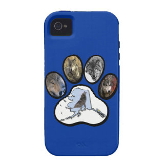 Alaska Wolf Paw Case-Mate iPhone 4 Cover