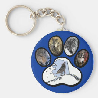 Alaska Wolf Paw Keychain