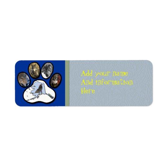 Alaska Wolf Paw Label