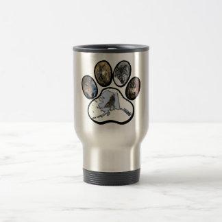 Alaska Wolf Paw Travel Mug