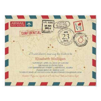 Alaska World Traveler Airmail | Bridal Shower Card