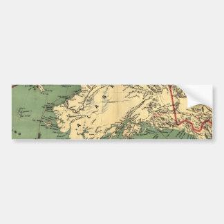 Alaska y las minas de oro de los campos del oro de pegatina de parachoque