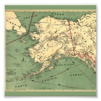 Alaska y las minas de oro de los campos del oro de impresiones fotográficas