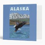 AlaskaBald Eagle Vintage Travel Poster Vinyl Binder