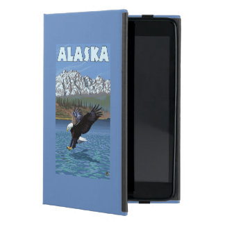 AlaskaBald Eagle Vintage Travel Poster iPad Mini Cover
