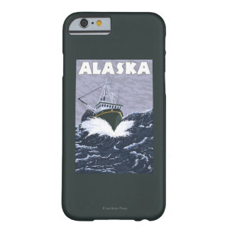AlaskaCrab Boat Vintage Travel Poster Barely There iPhone 6 Case