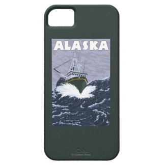 AlaskaCrab Boat Vintage Travel Poster iPhone 5 Case
