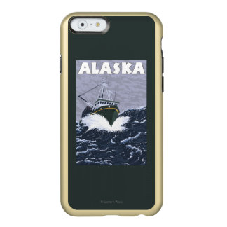AlaskaCrab Boat Vintage Travel Poster Incipio Feather® Shine iPhone 6 Case