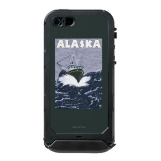 AlaskaCrab Boat Vintage Travel Poster Incipio ATLAS ID™ iPhone 5 Case