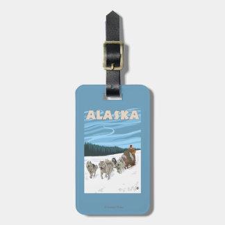 AlaskaDogsledding Vintage Travel Poster Bag Tag